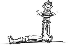 Dessin: Un participant est étendu sur le dos, le visage orienté vers le haut. Le partenaire, debout, tient une balle à la verticale de son visage.