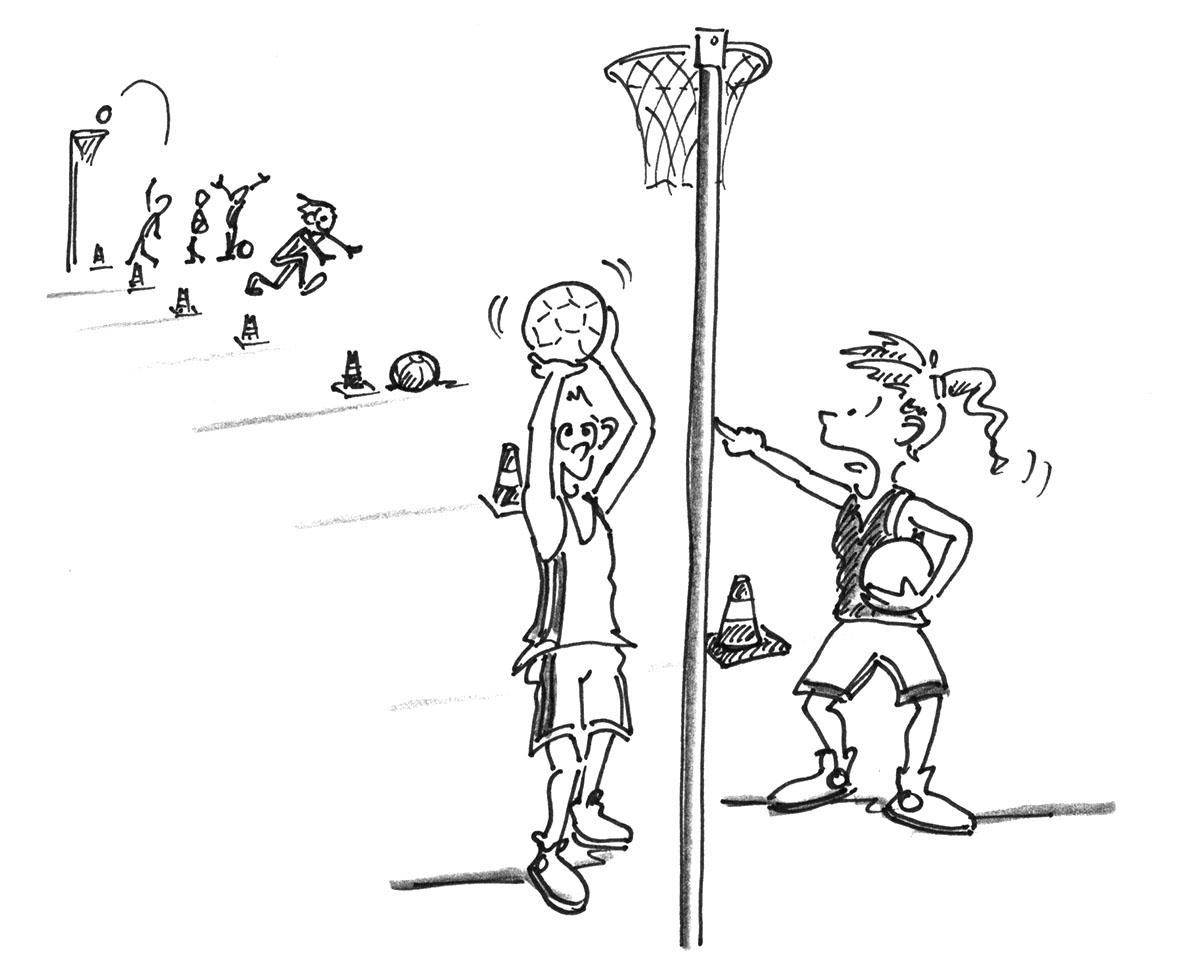 Korbball werfen und zielen medizinball verrücken