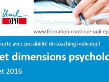 Formation: Sport et dimensions psychologiques