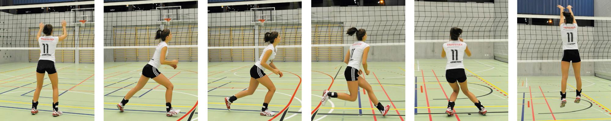 Block volleyball technik