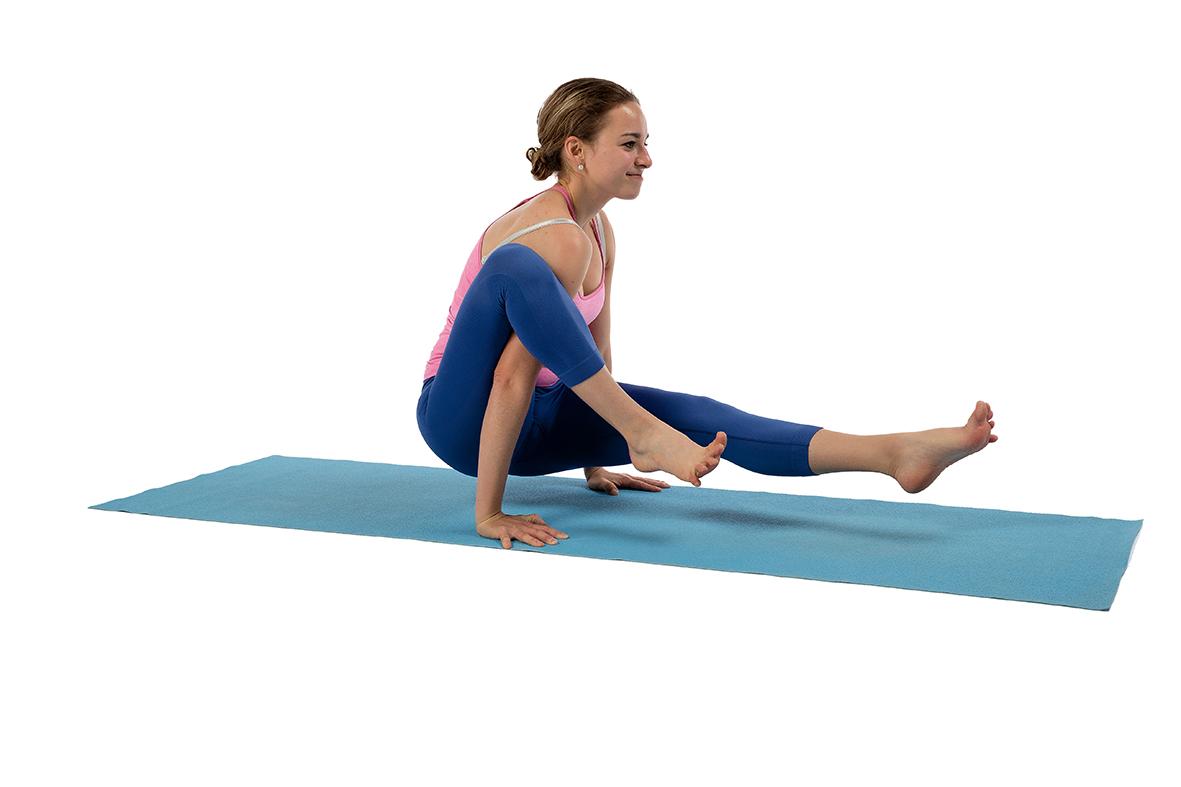 Yoga – Balance auf Händen B50 Ein Bein über Arm » mobilesport.ch