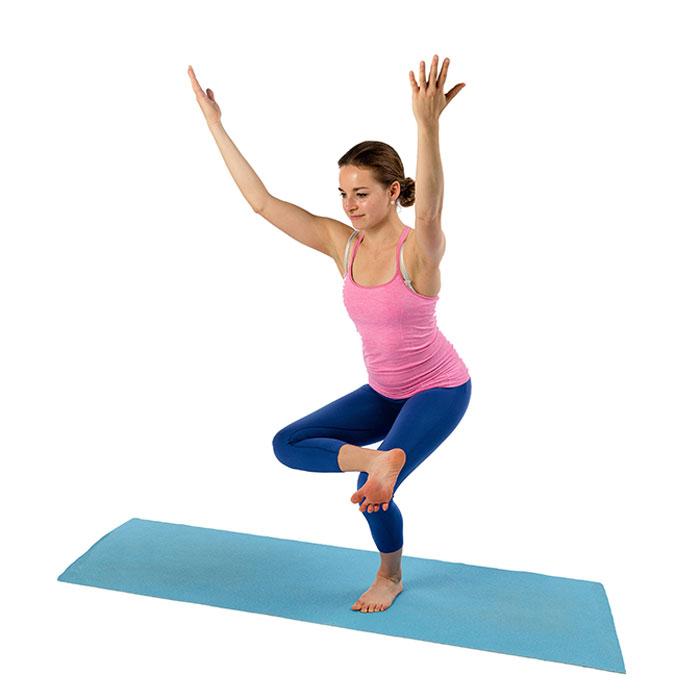 yoga en quilibre sur une jambe b2 demi lotus sur un pied. Black Bedroom Furniture Sets. Home Design Ideas