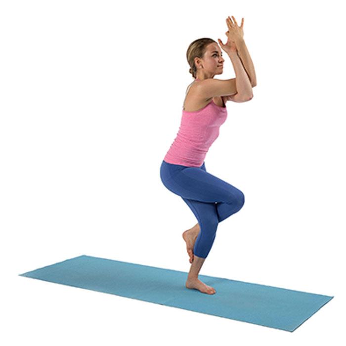 yoga en quilibre sur une jambe b2 aigle. Black Bedroom Furniture Sets. Home Design Ideas