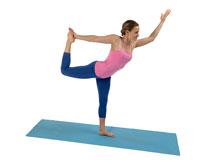 yoga  balance auf einem bein b2 der tänzer