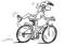 In bicicletta – Esercitare l'abilità: Monopattino