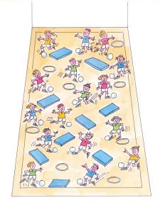 Dessin: organisation de la salle de sport