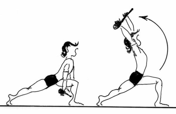 Etirement quadriceps hanches pas de girafe for Danse passer sous une barre