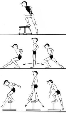 Grafik: Reihenbild - Ablauf der Übung und Variation.