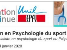 Formation: DAS en psychologie du sport