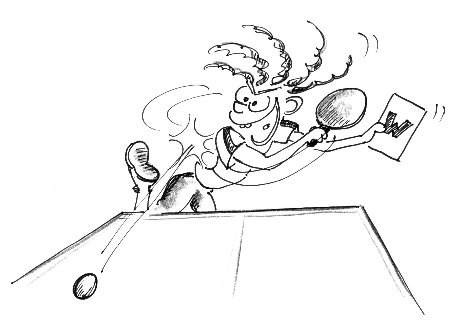 Jeux de renvoi avec enfants jeux d introduction ttx - Dessin tennis de table ...