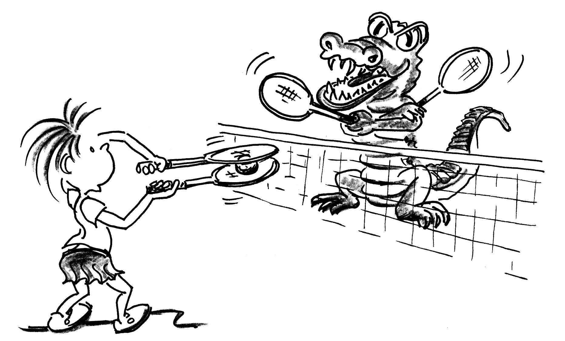 Giochi Di Rinvio Con Bambini Tennis Il Coccodrillo Mobilesport Ch