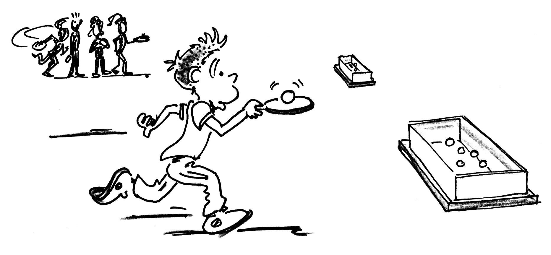 Jeux de renvoi avec enfants tennis de table facteur - Dessin tennis de table ...