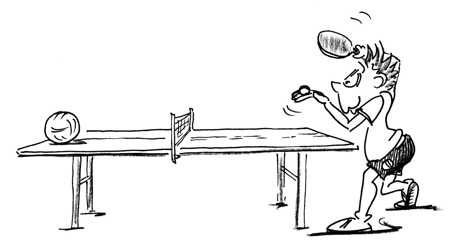 Jeux de renvoi avec enfants tennis de table tir forain - Dessin tennis de table ...