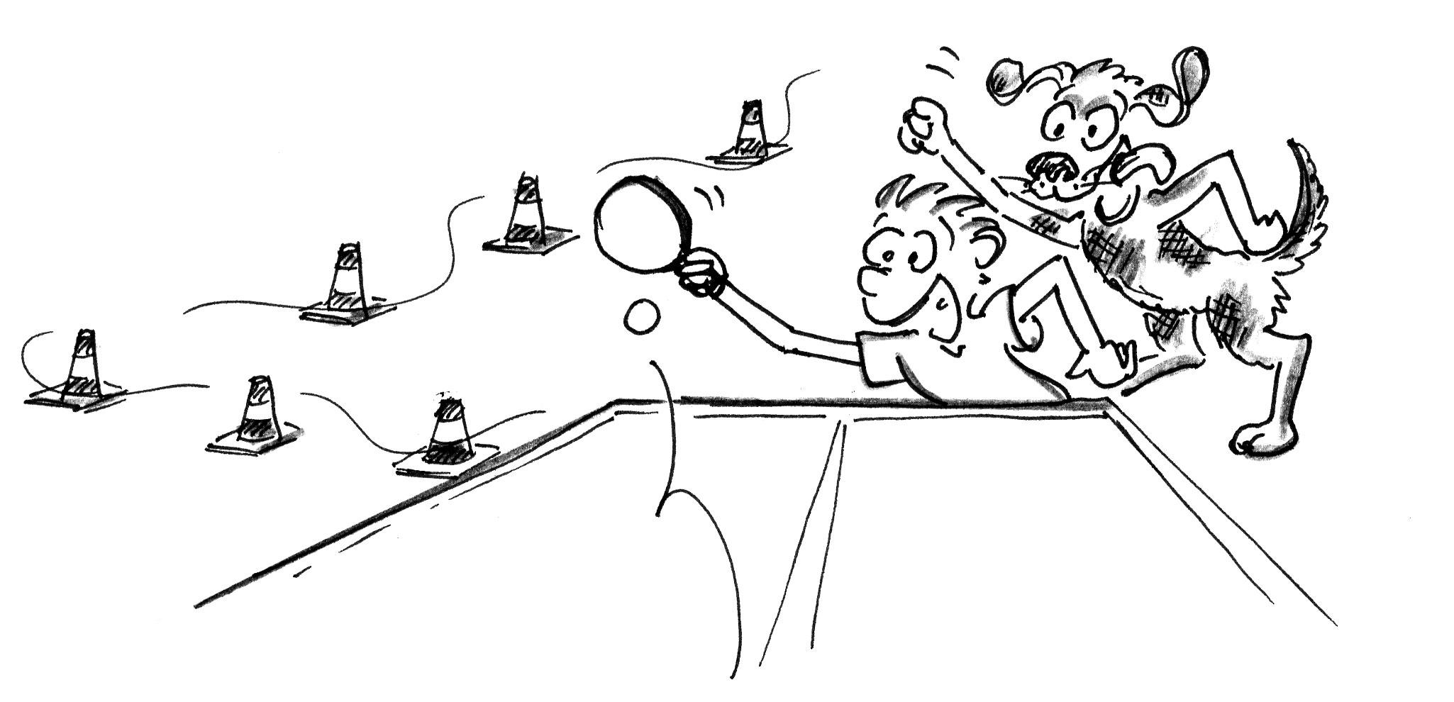 Jeux de renvoi avec enfants tennis de table le ma tre - Dessin tennis de table ...