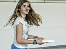 Sport und Bewegung für Familien mit Kindern: Frisbee