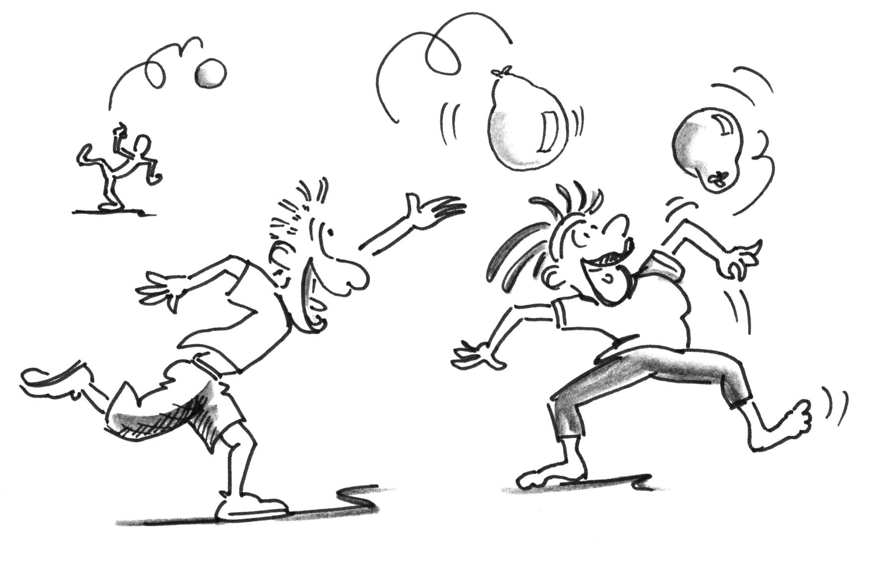 Jeux Pour Seniors 60 En Forme Mise En Train Ballons Aeriens