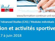 Formation: CAS en nutrition et activités sportives