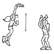 Dessin: description de l'exercice.