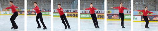 Eislauf – Grundelemente: Chassé rückwärts