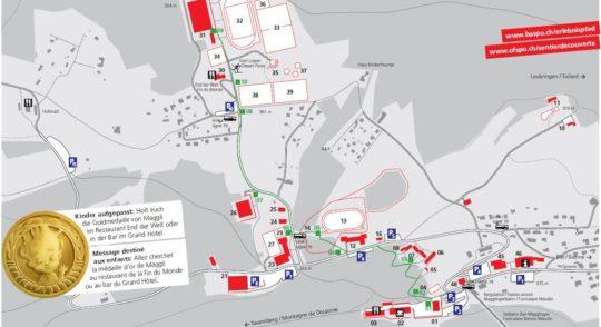 Plan du sentier découverte de Macolin