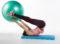 Training mit Hilfsmitteln − Swissball: Klappmesser