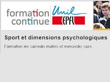 Formation continue: Sport et dimensions psychologiques