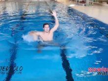 Wasserball – Paddeltechniken – Beinwärtsschieben: Block ohne Handwechsel und Nachfassen nach dem Block – Niveau Fortgeschrittene
