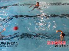 Wasserball – Passtechnik im Dreieck: Pass auf das Wasser  – Niveau Anfänger