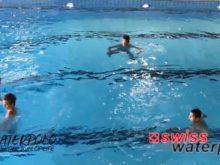 Wasserball – Passtechnik im Dreieck: Pass auf das Wasser mit Drehung – Niveau Anfänger