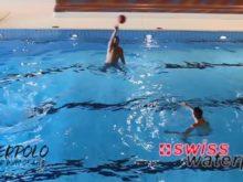 Wasserball – Passtechnik im Dreieck: Beine aktivieren – Niveau Fortgeschrittene