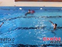 Wasserball – Passtechnik im Dreieck: Doppelpass – Niveau Fortgeschrittene