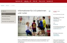screenshot Kantonale Sportstellen J+S