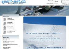 Screenshot Homepage sport-net.ch