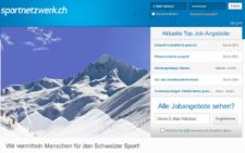 Screenshot Homepage Sportnetzwerk.ch