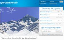 Screenshot Homepage Sportnetzwerk.ch